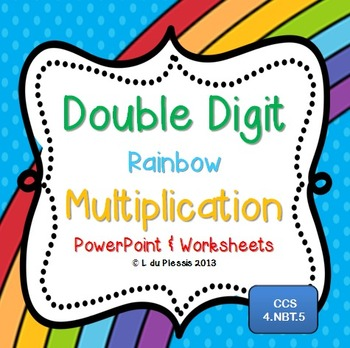 ... worksheets by Lindy du Plessis support student learning with a rainbow