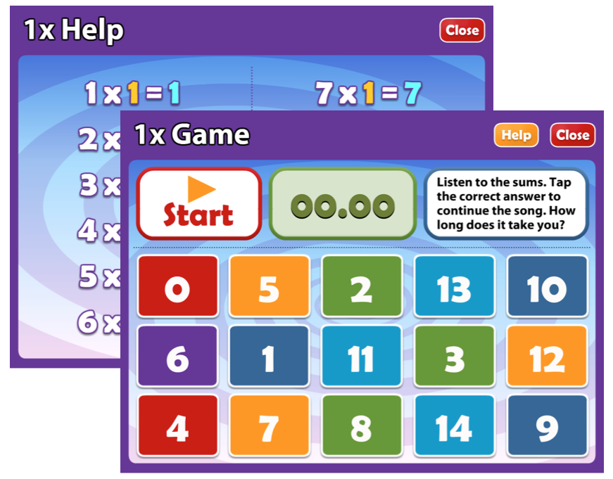 Math s song times tables 1x 6x hd for Table 6 song