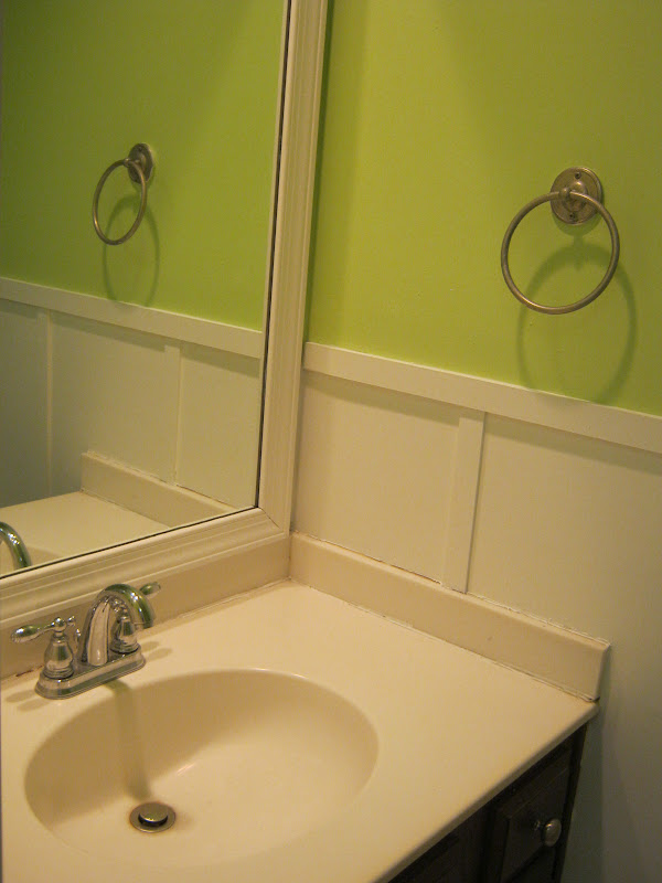 Bathroom Sink Yellow Stain paint speckled pawprints: a powder room reveal