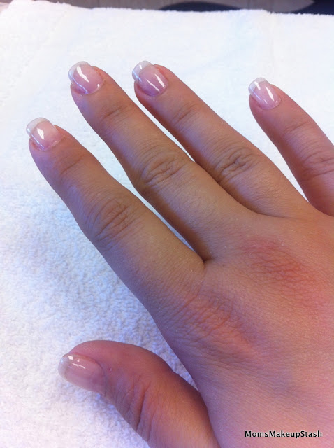 Creative Nail Design Stickey Base Coat Reviews : My nails without polish strengthener and base coat only