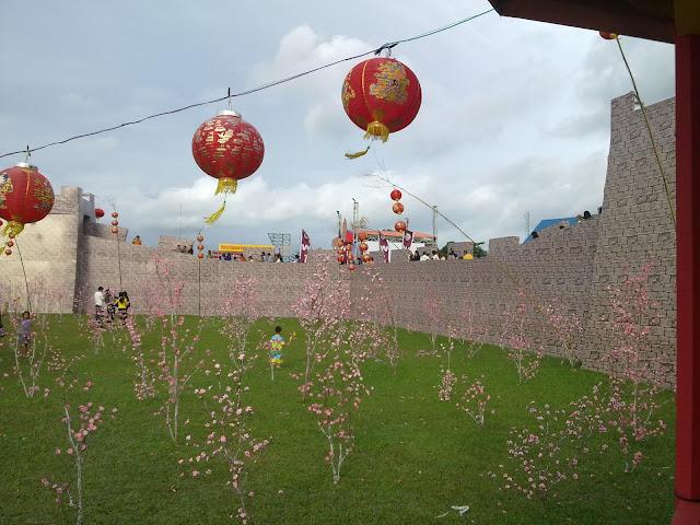 bunga mei hua di tembok besar cina singkawang