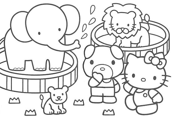 Coloriages enfants hello kitty a colorier - Colorier kitty ...