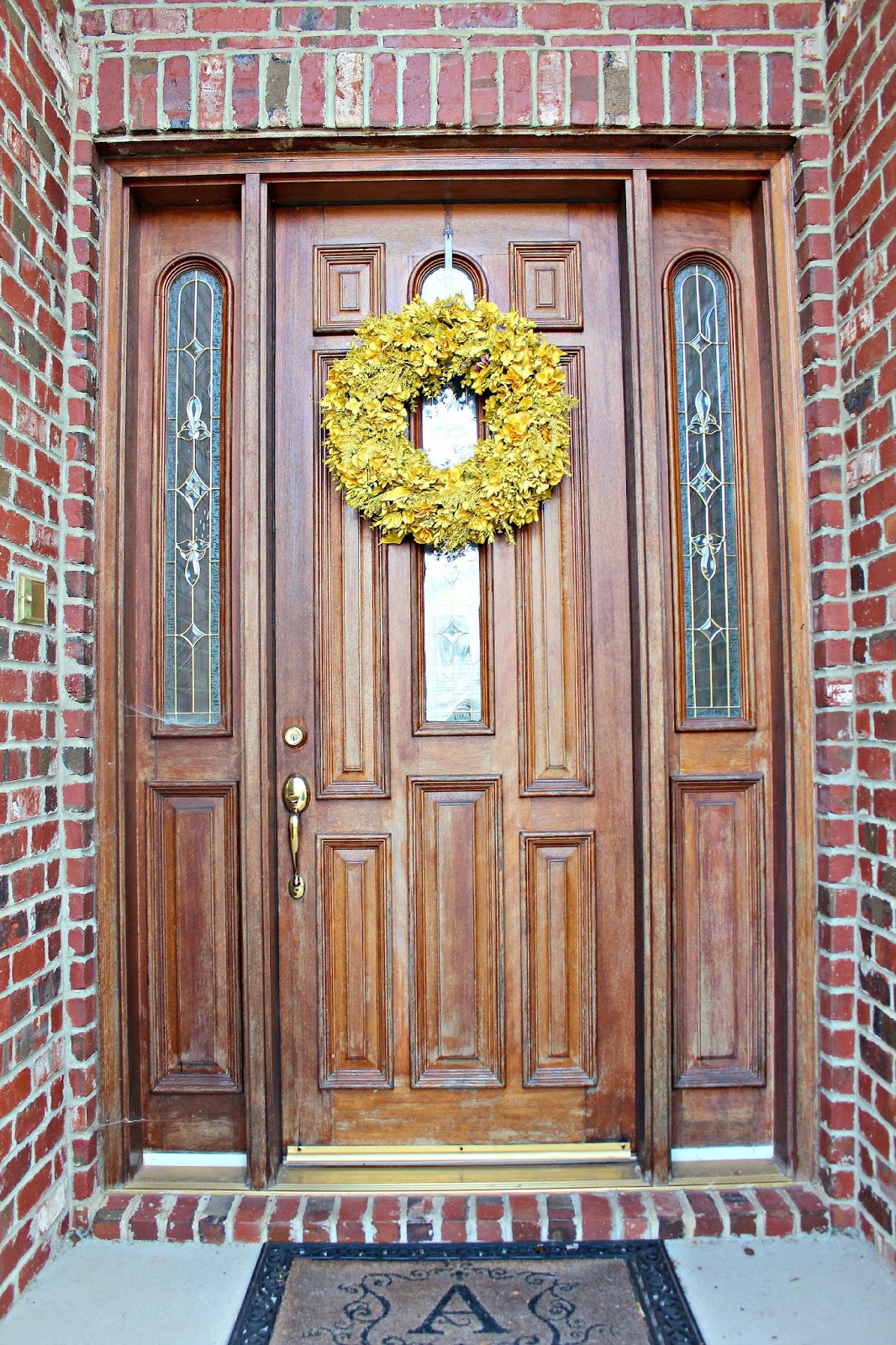In August, We Stained The Inside And Outside Of Our Front Door. Although It  Is 15 Years Old, Our Door Is Beautiful, Solid Wood, And 10 Feet Tall: