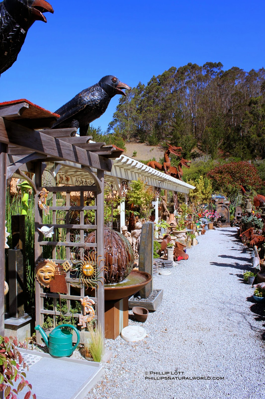 the store is massive covering several acres jam packed with inventive and creative one of a kind home and garden art