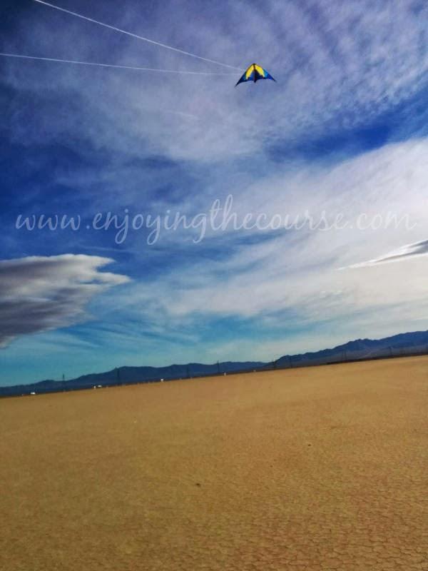 Kite Flying Ivanapah Dry Lake
