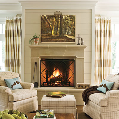 From My Front Porch To Yours Planked Fireplace Inspiration Pic Southern Living