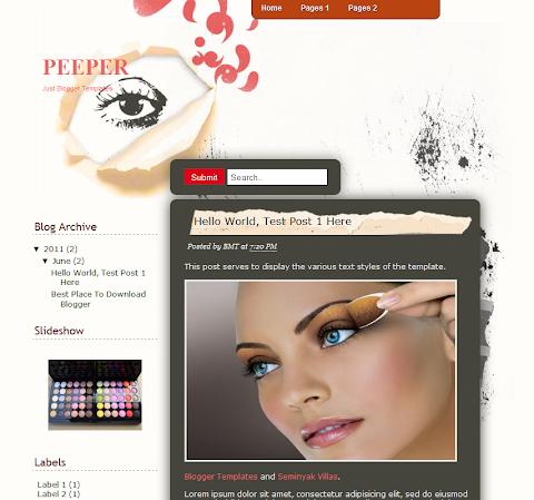 Peeper Blogger Theme
