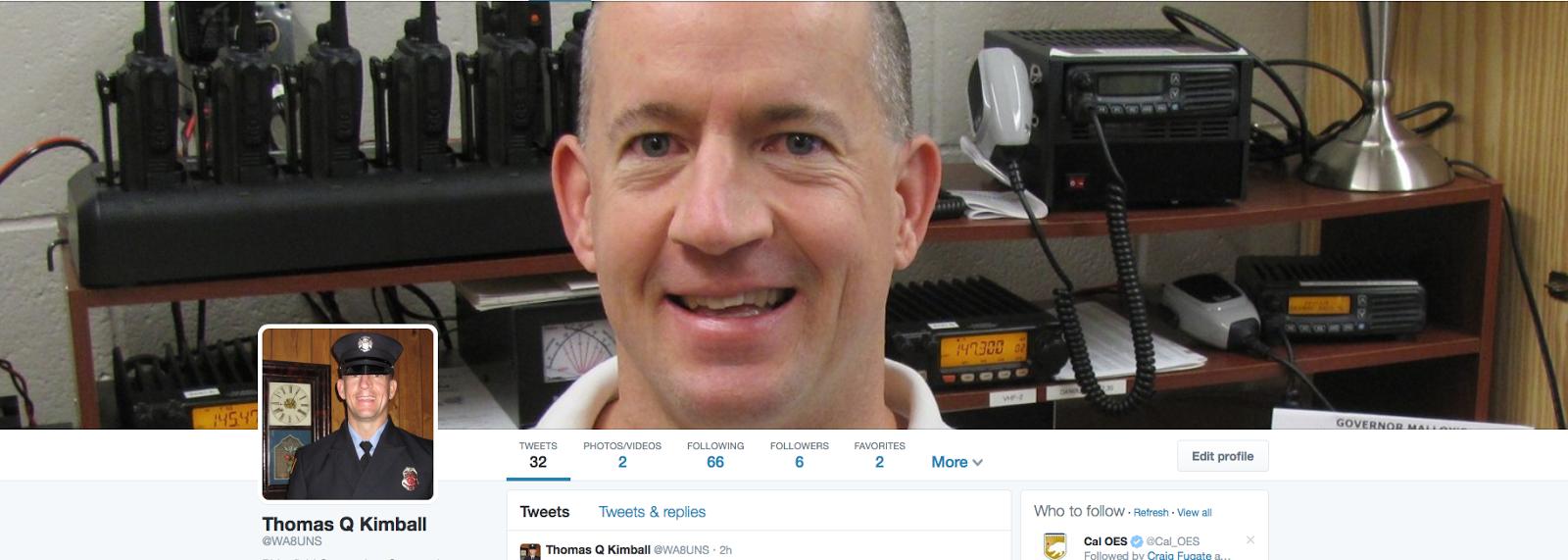 Thomas Q Kimball WA8UNS twitter @WA8UNS