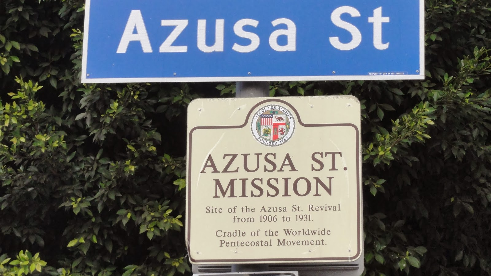 the importance of azusa street Visions of glory: the place of the azusa street revival in pentecostal  78, 92– 93) mentioned other centers but saw azusa as most important.