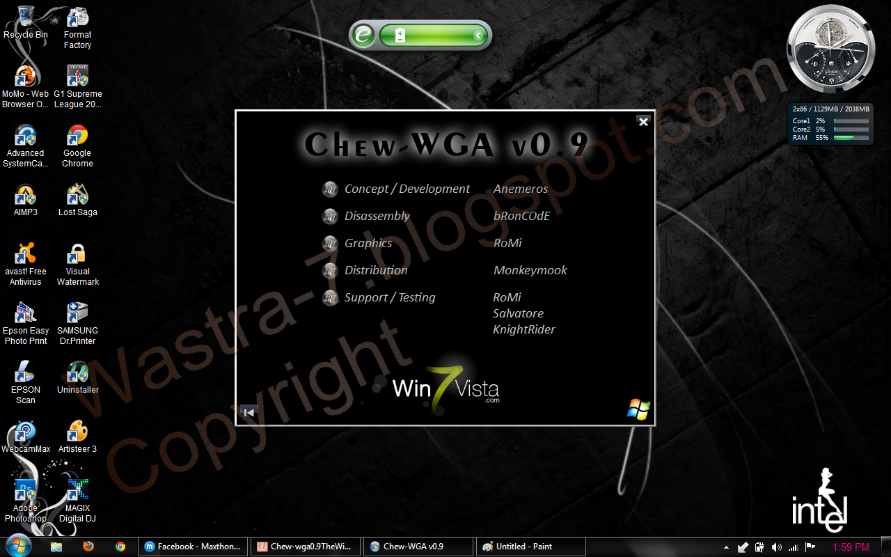 Download Windows 7 build Activator - ChewWGA v