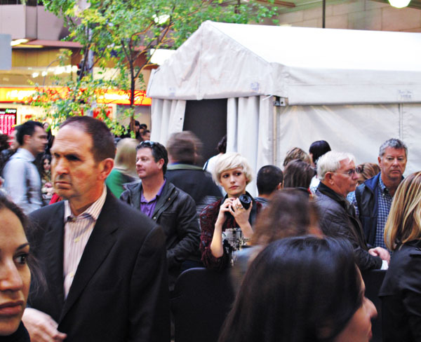 Crowd with lone photographer, Sydney Vogue Fashion's Night Out 2011