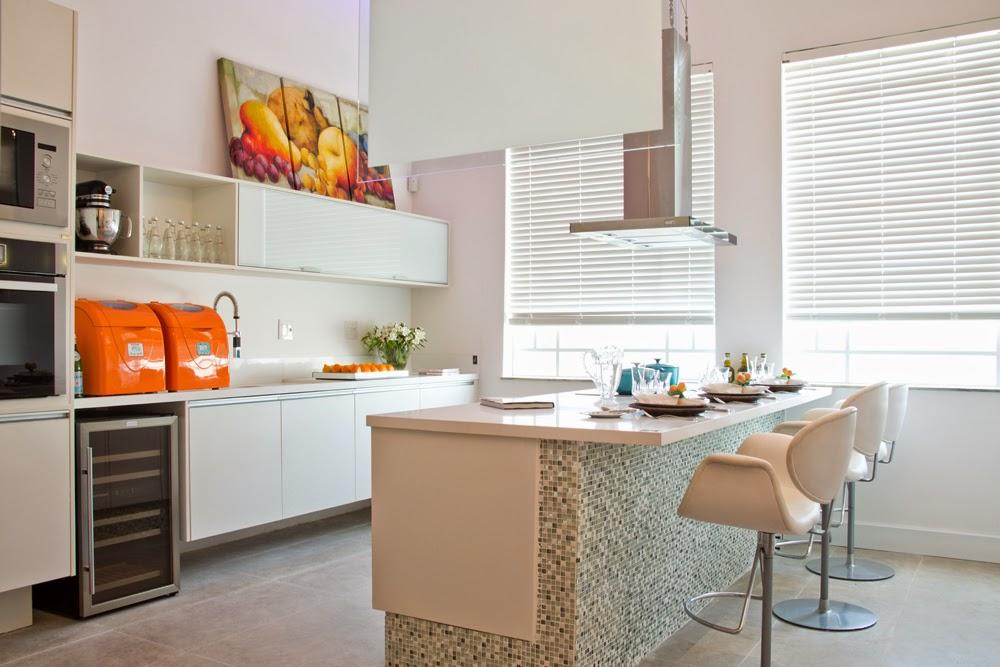 Construindo Minha Casa Clean Tendência de Cozinhas com Ilha Central e Ilha A # Ilha Cozinha Tijolo