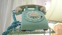Vintage Turquoise Telephone