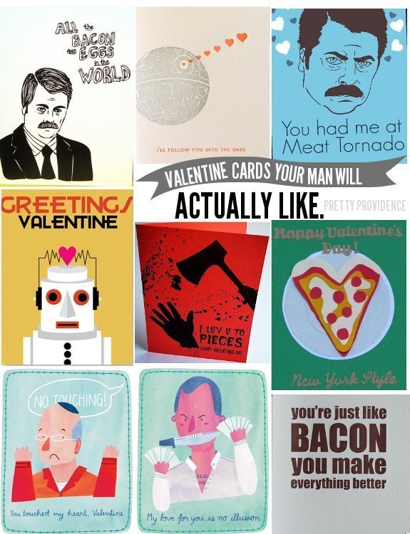 valentine's cards for men! (guys will like these.) - pretty providence, Ideas
