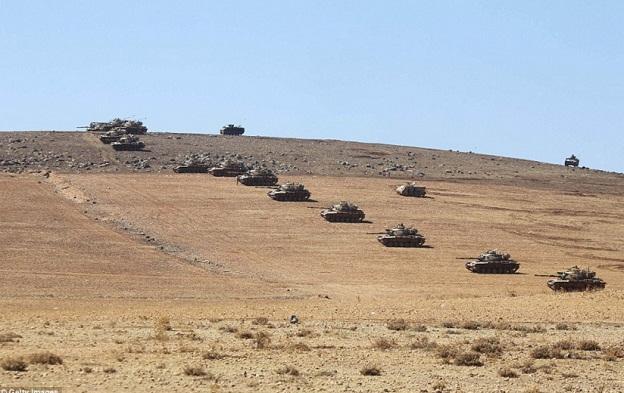 Turki Siagakan Tank dan 18 Jet Tempur di Perbatasan Suriah