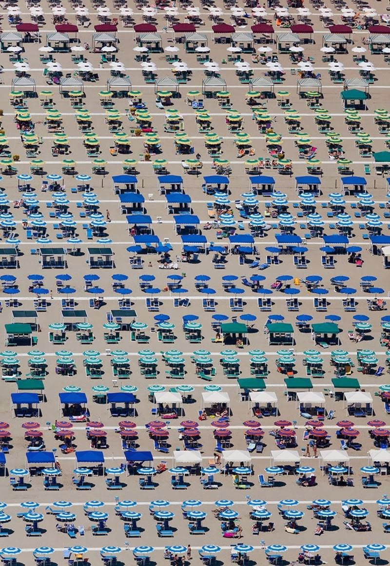 Territory of umbrellas in Camaiore, Tuscany, Italy.