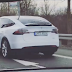 Spy Shot: 1. Model X in Deutschland gesichtet.