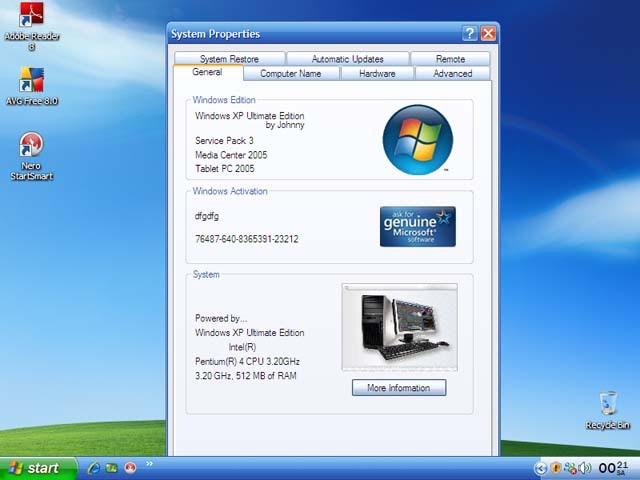Windows XP: Windows XP SP3 Professional DVD Multilangs 24 ...