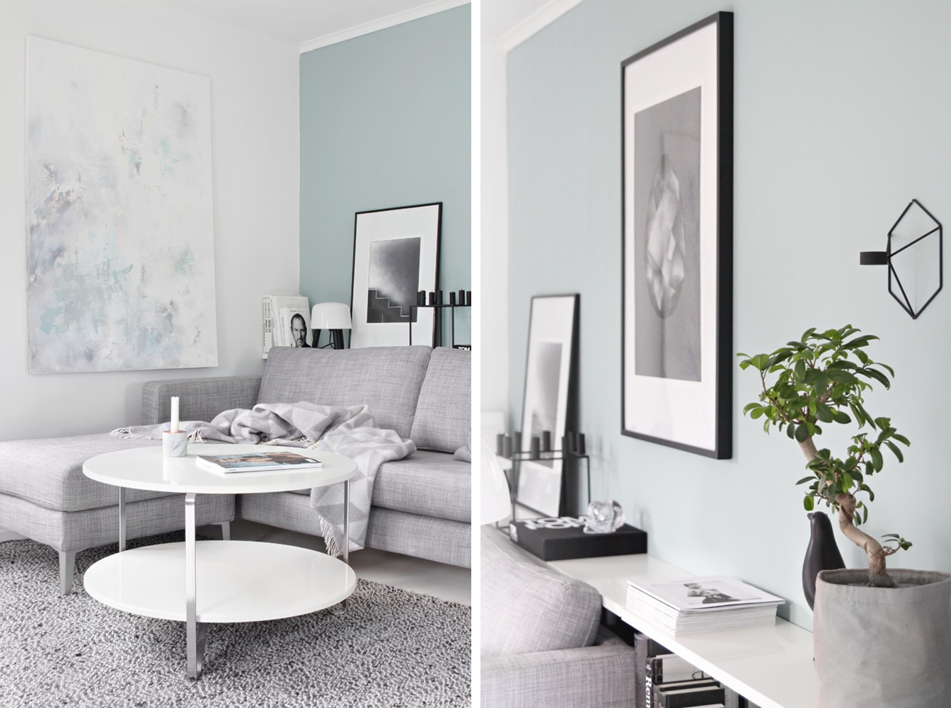 Decoraci n f cil pintar las paredes con el elegante y fresco color blue green - Pintar facil paredes ...