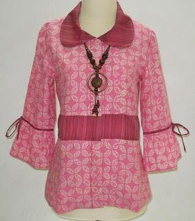 Model Baju Batik Lurik Kantoran Modern 2017