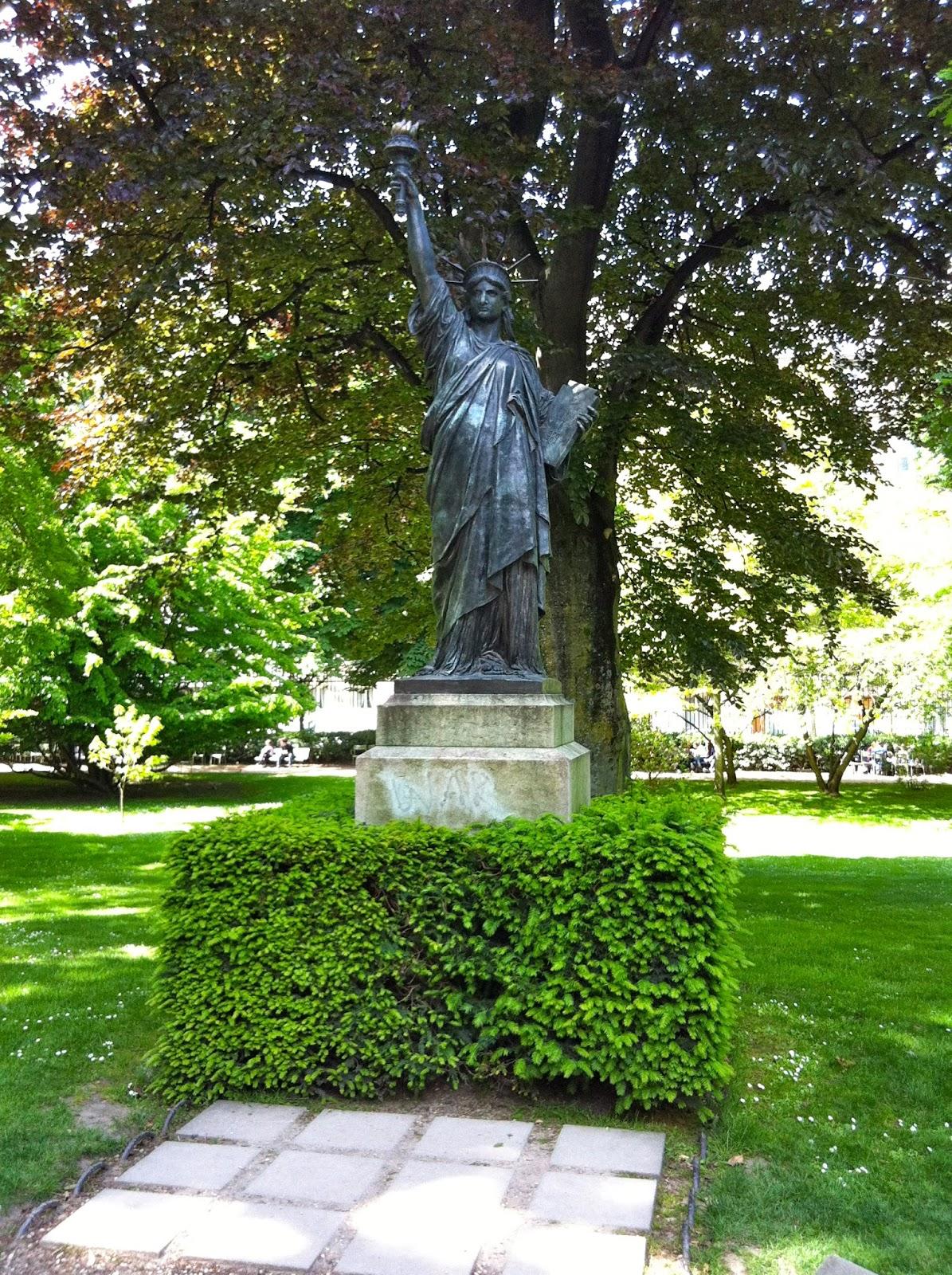 Original Statue Liberty Paris Luxembourg Gardens