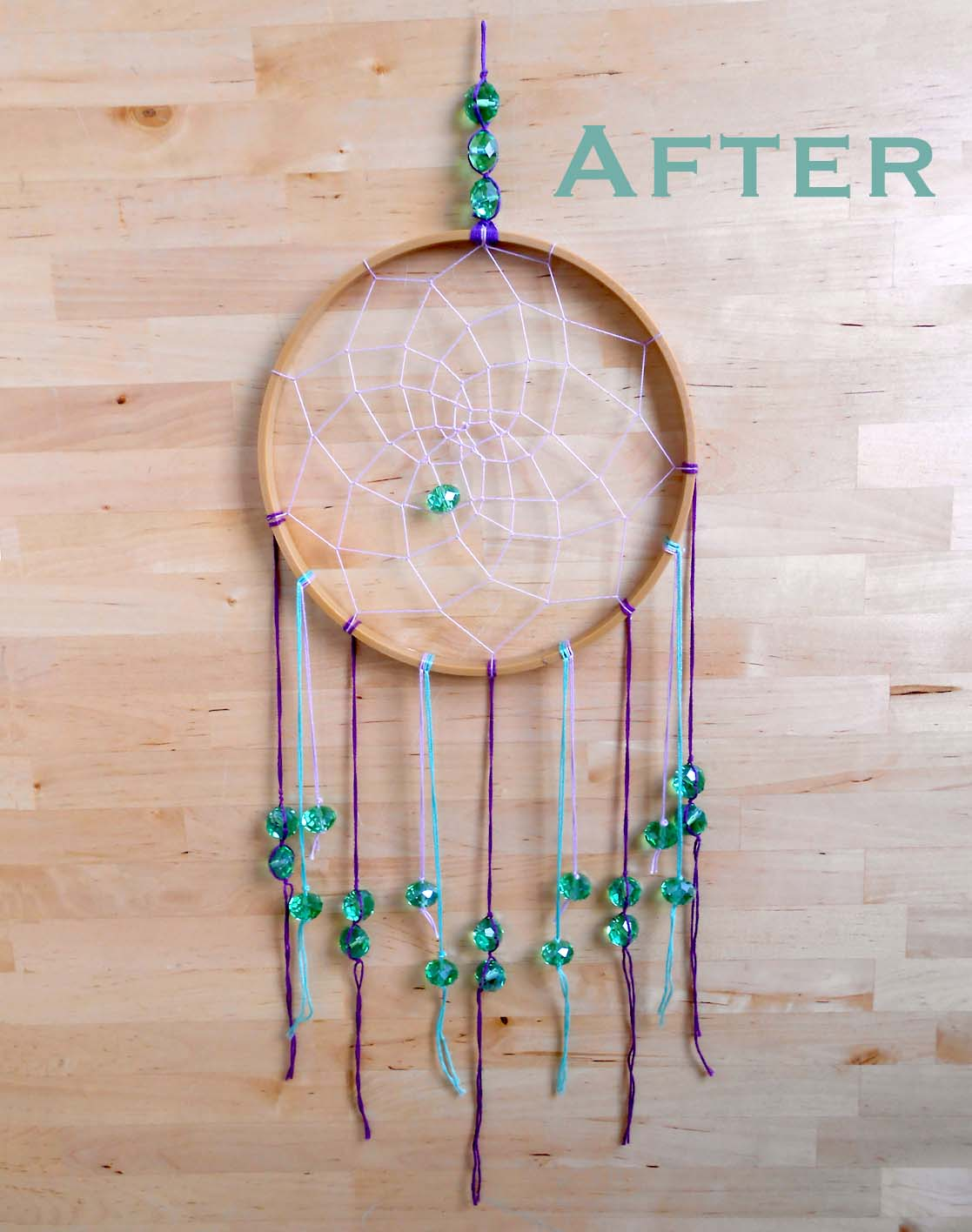 Dream Catchers With Beads We Can ReDo It Embroidery Hoop Dream Catcher 22