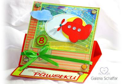 śliczna kartka dla chłopca motyw samolotu galeria_schaffar_dominika_omelan