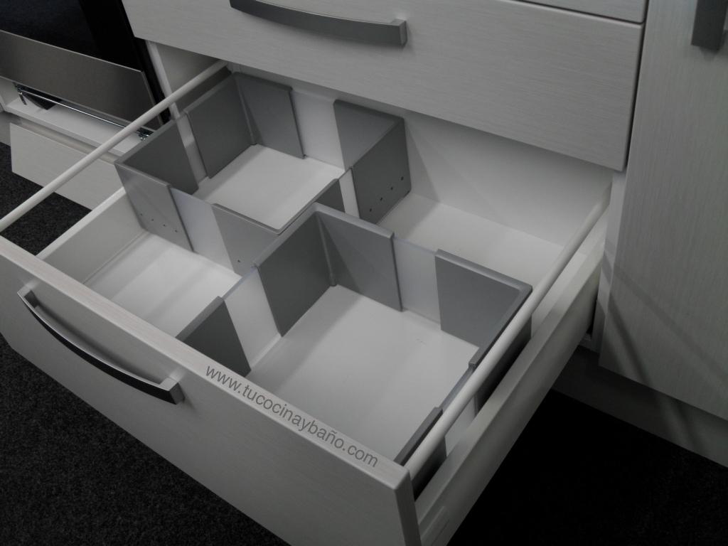 Caja ajustable caj n cocina tu cocina y ba o for Organizador cajones bano