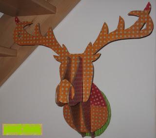 trophée cerf en carton