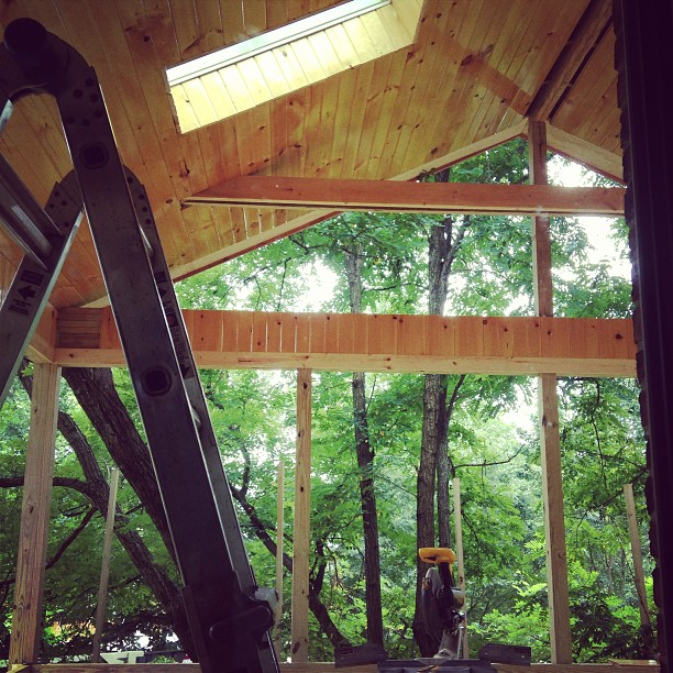 screened porch progress