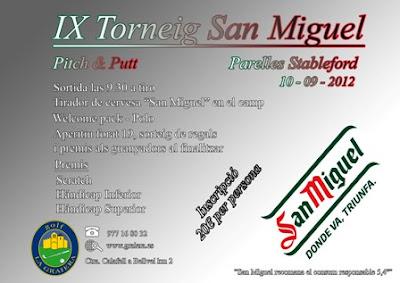 Torneo San Miguel en Pitch & putt La Graiera