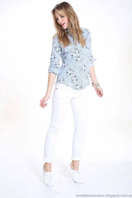 Riffle Jeans primavera verano 2014 camisas de mujer.