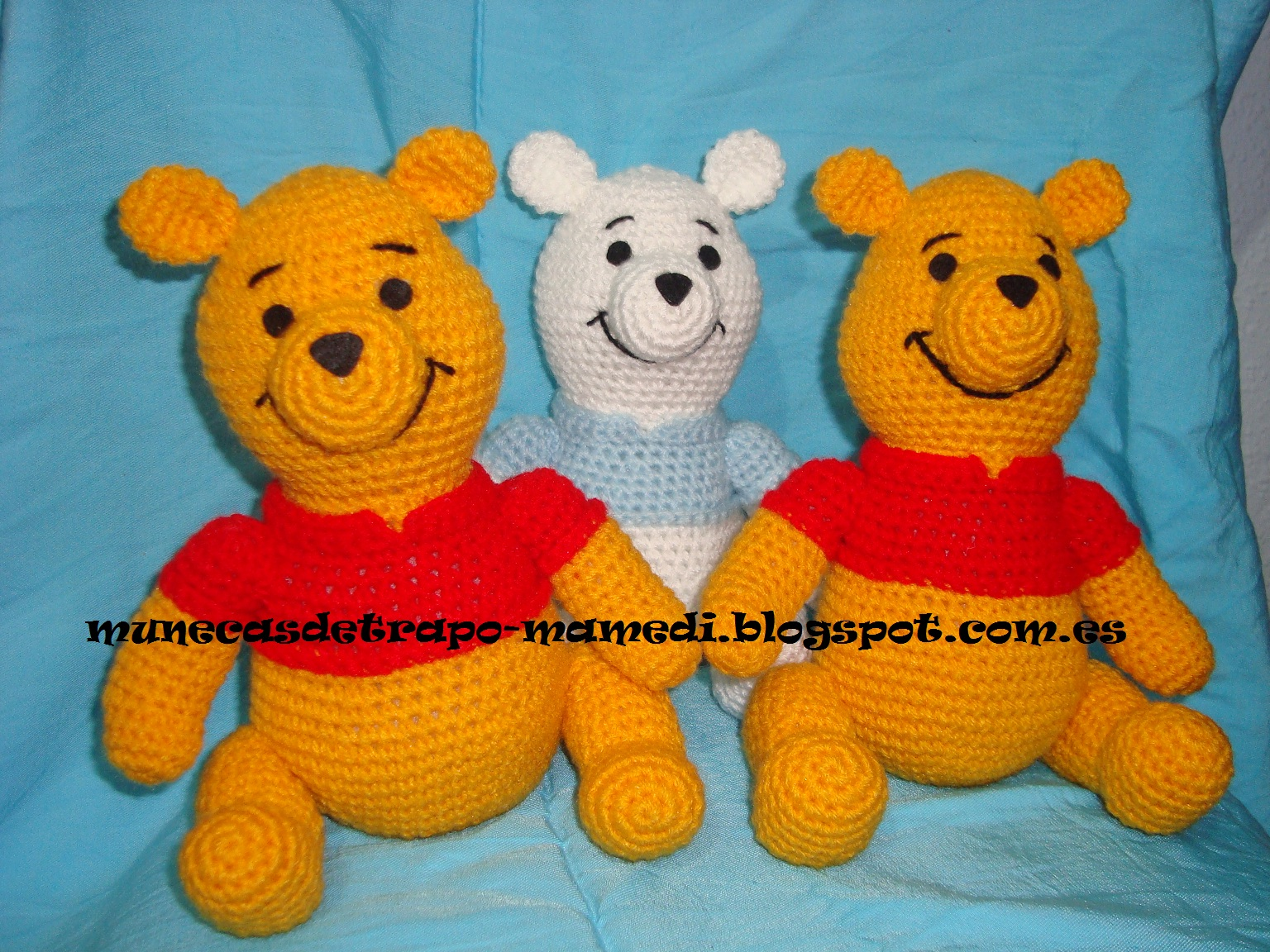 Amigurumi Winnie The Pooh : Munecas de trapo Mamedi: Winnie the Pooh amigurumi - 2
