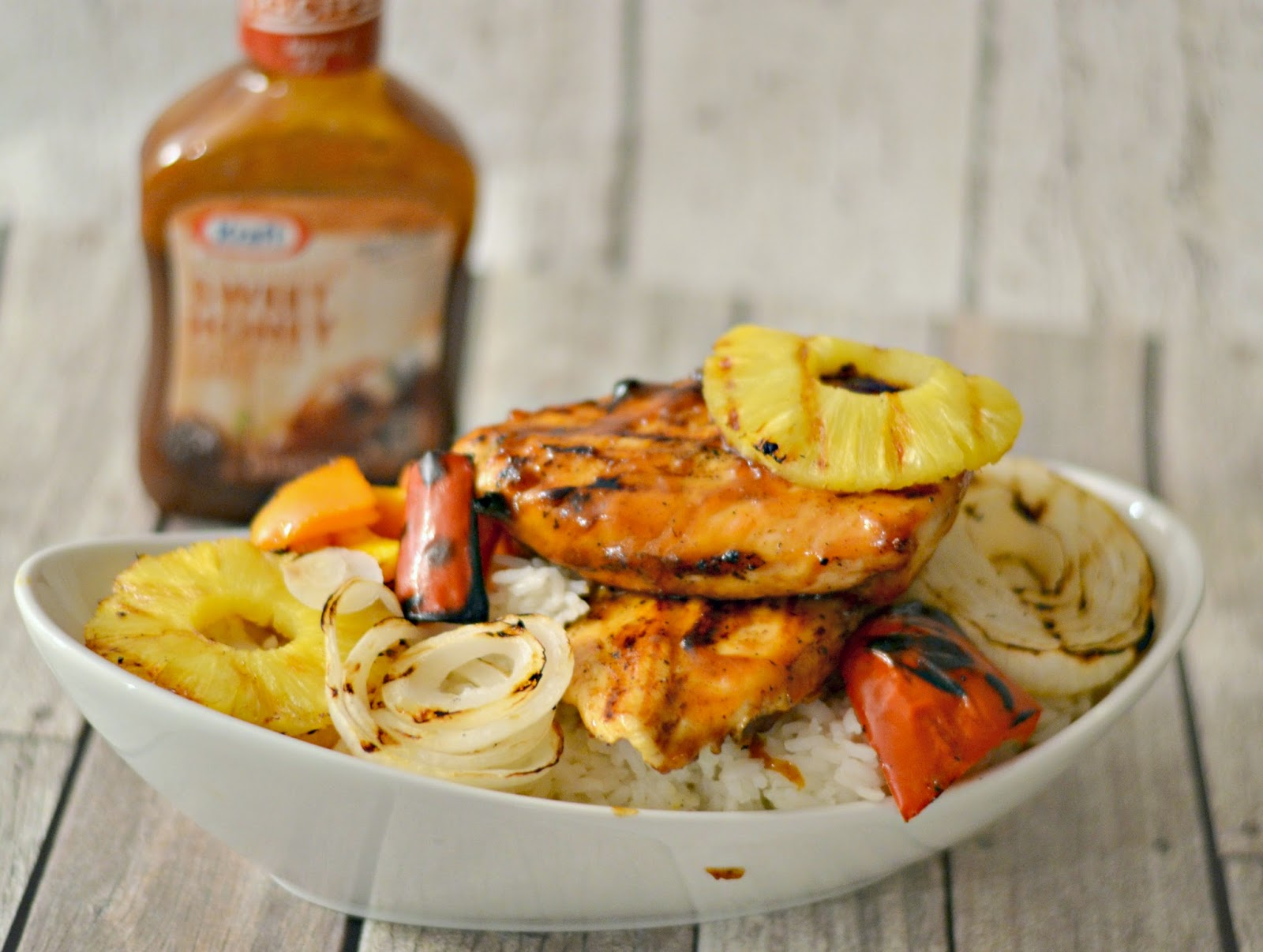 Sweet Hawaiian Barbecue Grilled Chicken #Recipe.  Kraft Evergriller.  Hawaiian Pineapple Grilled Chicken.  BBQ Chicken on the grill