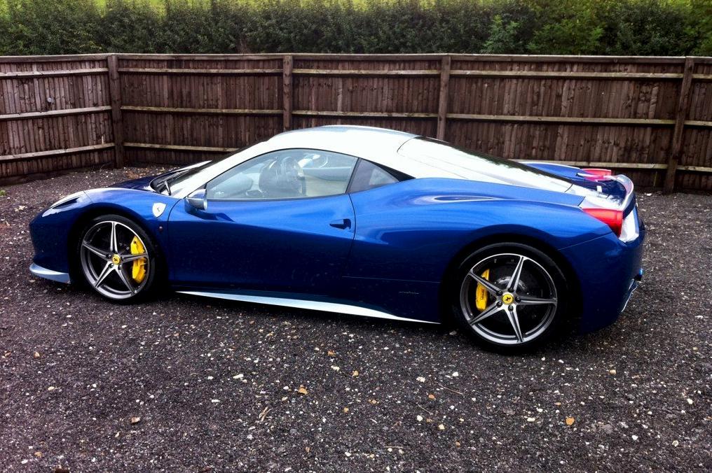 ferrari 458 blue wallpaper - Ferrari 458 Blue Wallpaper