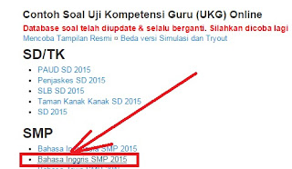 Info Pendidikan Terbaru Contoh Soal Ukg Paud Sd Smp Sma Smk 2015