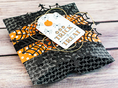 Trick or Treat Pillow Box made using Stampin' Up! UK Supplies - available here