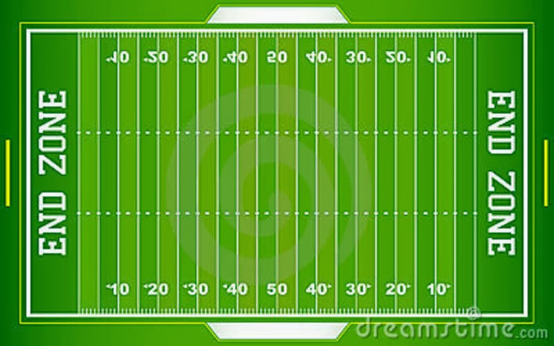 Punchy image with printable football field