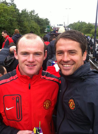 Wayne Rooney Michael Owen Manchester United Champions Barclays Premier League Parade
