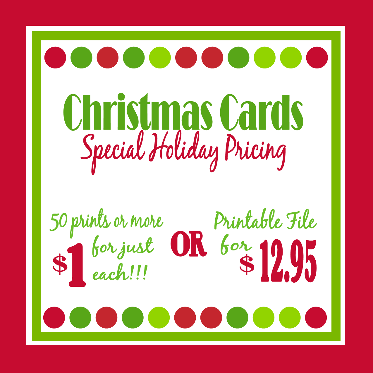 SPECIAL Christmas Card Pricing - Sweet Peach Paperie