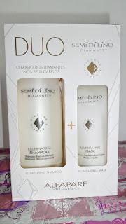 Shampoo & Mascara Semí de Líno Diamante Illuminating