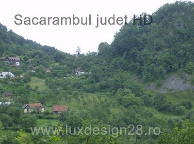 Vedere de sus in jos a satului