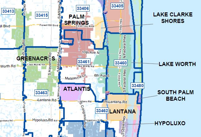 Press/media: Baffled by Zip Codes, city borders here in Central PBC?