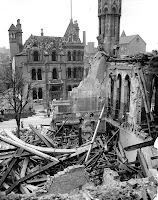 Bomb damage from the Nottingham Blitz