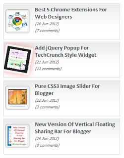 Membuat Recent Post Bergerak Di Blog
