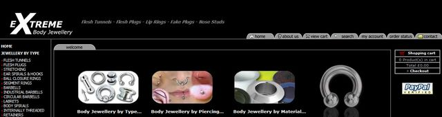 Titanium Body Jewellery at Extreme-Body-Jewellery.co.uk
