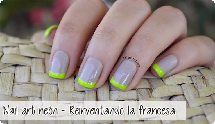 manicura francesa bicolor fluor