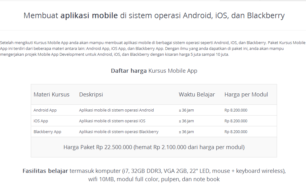 Kursus Mobile App