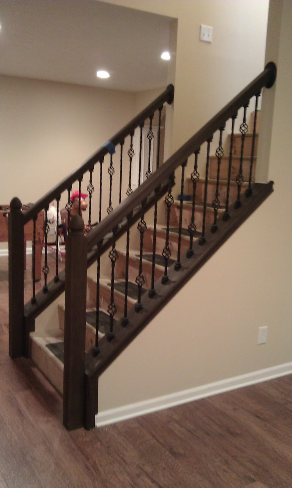 Doug Bolt Woodworking: New Stair Railing