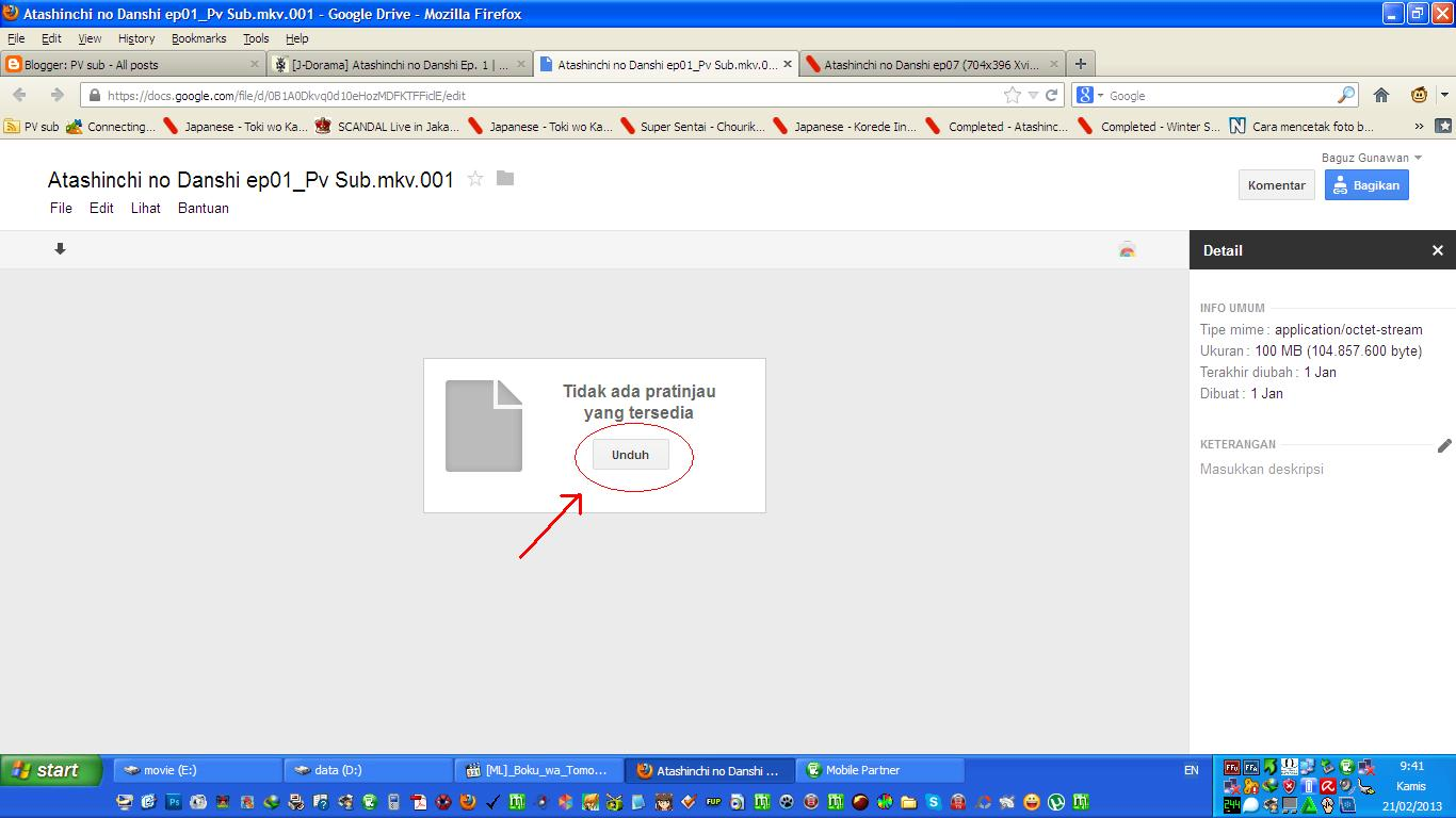 how to download subs from google drive